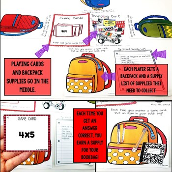 Back to School Multiplication Facts
