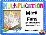 Back to School Multiplication Fan for Practice and Review