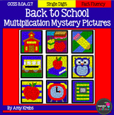 Back to School Multiplication Mystery Pictures