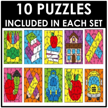 Back to School Multiplication Puzzles