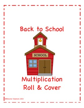 Back to School Multiplication Roll and Cover