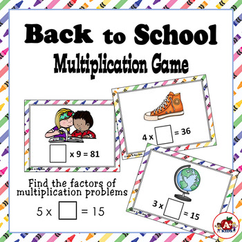 Back to School Multiplication You-Know