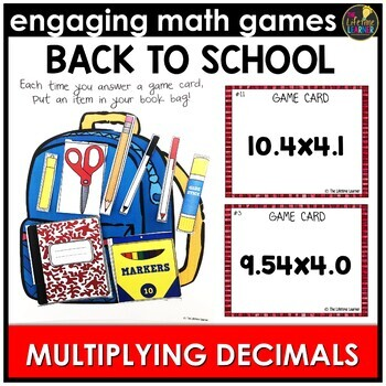 Back to School Multiplying Decimals