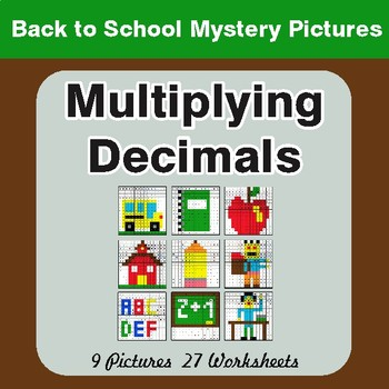 Back to School: Multiplying Decimals - Color-By-Number Math Mystery Pictures