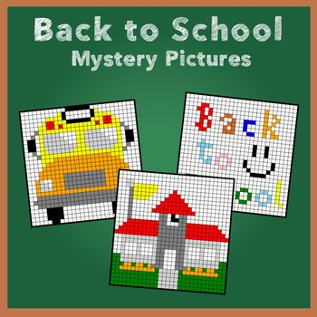 Back to School Multiplying Fractions Mystery Pictures