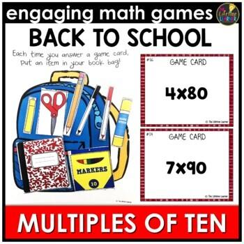 Back to School Multiplying by Multiples of Ten