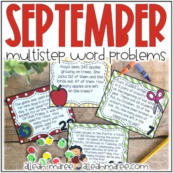 Back to School Multistep Word Problems