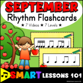 Back to School Music Activities: Rhythm Flashcard Videos: September Music Lesson