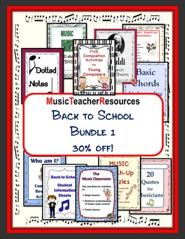 Back to School for Middle School Music: Bundle 1