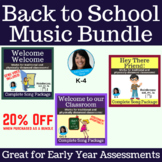 Back To School Music Bundle for Elementary Music   Welcome