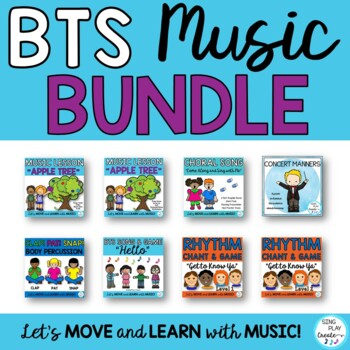BACK TO SCHOOL Music Class Songs, Activities, Games, Chants, Lessons, BUNDLE