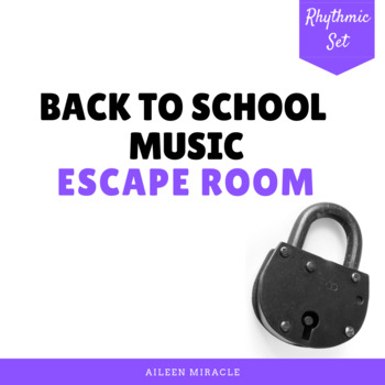 Back to School Music Escape Room