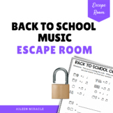 Back to School Music Escape Room