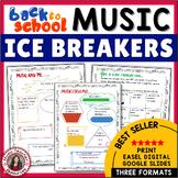Back to School Music Ice Breakers
