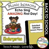 Back to School Music Lesson Plan!  Echo/Voice Kindergarten