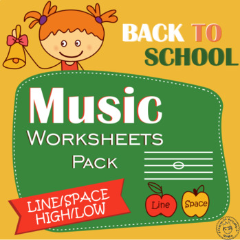 Back to School  Music Staff Worksheet  Bundle