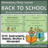 Elementary Music Lesson & Orff Arrangement ~ Back to Schoo