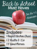 Back to School Must Haves - Grades 4-8