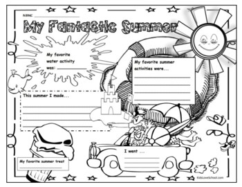 Back to School-My Fantastic Summer:Poster/Icebreaker Activity ENGLISH