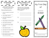 Back to School: My First Day of --- Grade/ Welcome Back to School (Brochures)