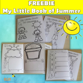 Back to School - My Little book of Summer - Summer vacation writing