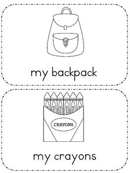 Back to School: My School Emergent Reader