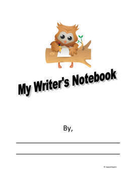 Back to School Writing Notebook Organizer