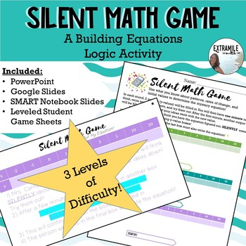 """Back to School Mystery Equation Game """"Silent Math Game"""" #StartFreshBTS"""
