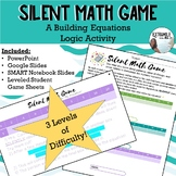 """Mystery Linear Equation Game """"Silent Math Game"""" #backtoschool"""