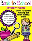 Back to School Mystery Game - Great Ice Breaker! Team Building Activity