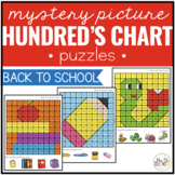 Back to School Mystery Picture Hundred's Chart Puzzles