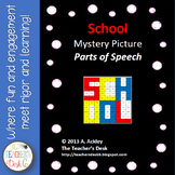 Back to School Mystery Picture Parts of Speech