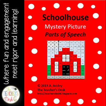 Back to School Mystery Picture Parts of Speech... Schoolhouse