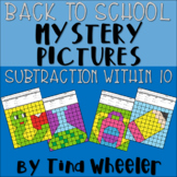 Back to School Mystery Pictures Subtraction Within 10 ~ Fact Fluency