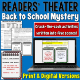Back to School Mystery Readers' Theater (Crack the codes!)  | PDF and Digital |