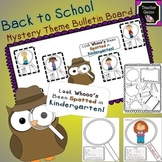 Back to School Owl Mystery Theme Bulletin Board for Kindergarten