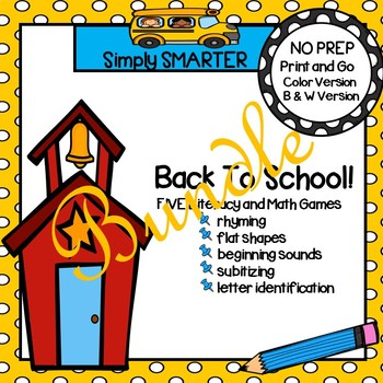 NO PREP Back to School Games Bundle