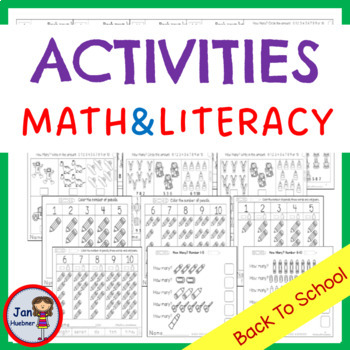 Back to School *NO PREP* Letters and Numbers Activities