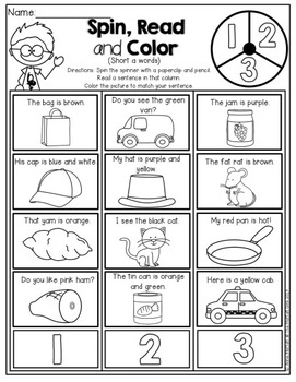 Back to School NO PREP Math and Literacy Packet (1st Grade)
