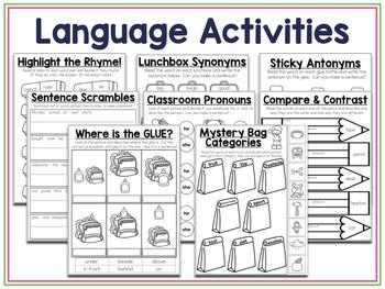 Back to School NO PREP Speech & Language Therapy