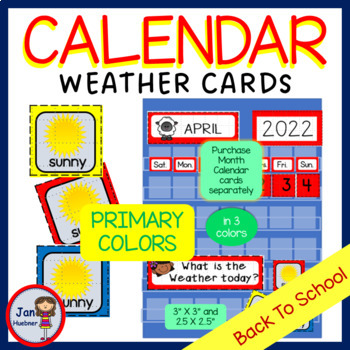 ALL Year Weather Calendar Cards
