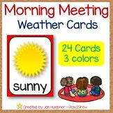 Back to School Calendar Weather Cards *NO PREP*