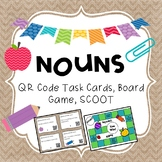NOUNS QR Code Task Cards, SCOOT, and Board Game