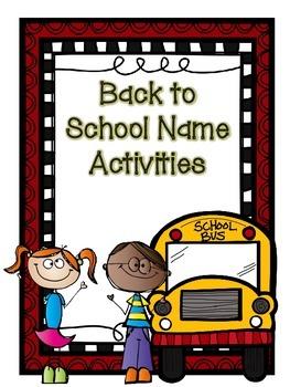 Back to School Name Activities