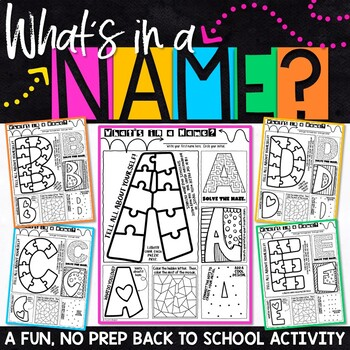 Back to School Name Activity   Back to School Get to Know You Activity