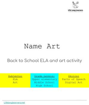 Back to School-Name Art