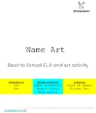 Back to School-Name Art
