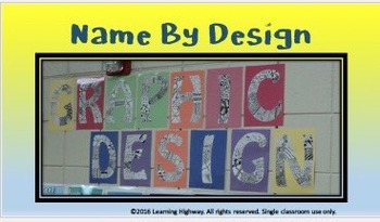 Back to School - Name By Design – Mini Unit