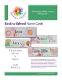 Back to School Name Cards