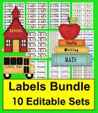 Labels Bundle of Labels - Various Sizes